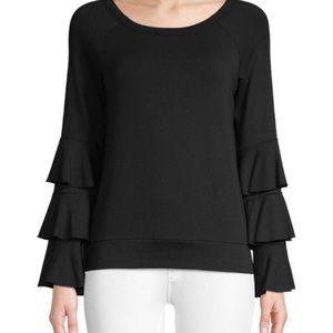 Bailey 44 Tiered Sleeve Stretch Blouse Top